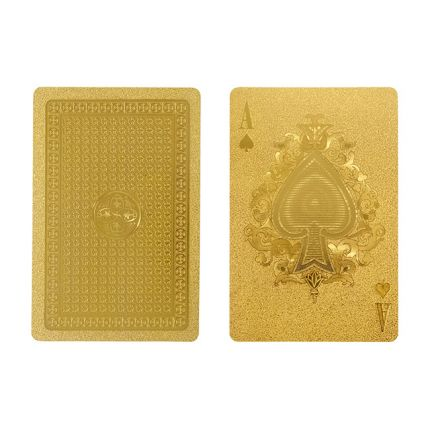 Potential gift for my card game loving grandparents - Gold Playing Card SetIDEA