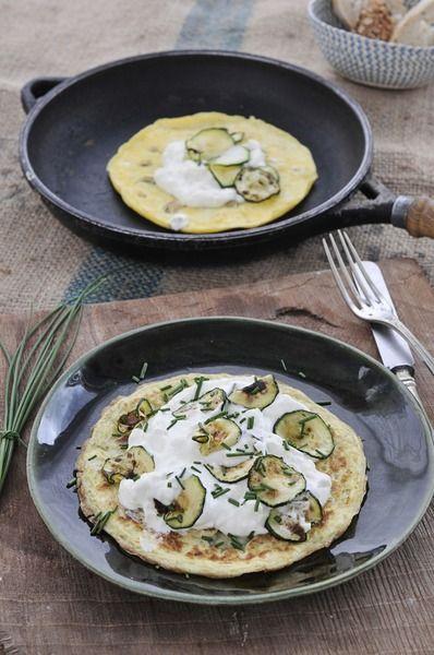 Tortilla de queso y calabacín, receta apta desde el martes de la NUEVA dieta Dukan (proteína + verdura)