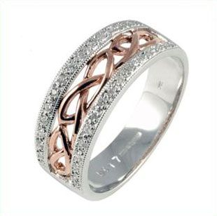Celtic Wedding Band Ring hallmarked in Dublin Castle - Lovely Celtic Jewelry Website <3. Love this