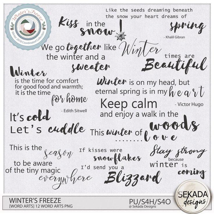 Digital Art :: Element Packs :: Winters Freeze [Word Arts] by Sekada Designs