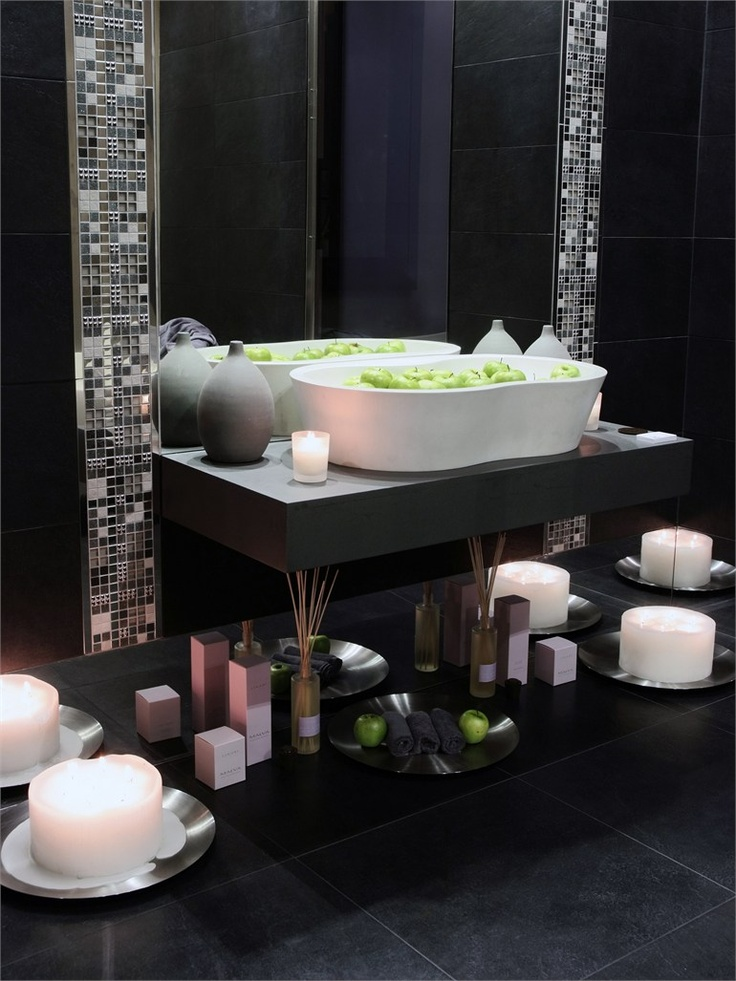 Best Home Decor Images On Pinterest Master Bathrooms DIY And - Mosaic tile around bathroom mirror for bathroom decor ideas