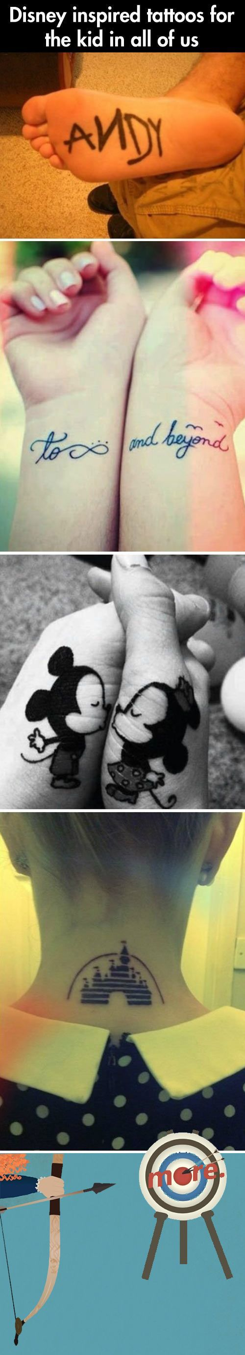 Cute Disney Tattoo You Need To See || the second one for me and Mesi!! *-*