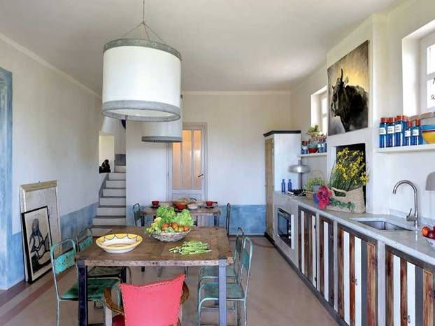 La cucina in muratura di Lucrezia Lante della Rovere