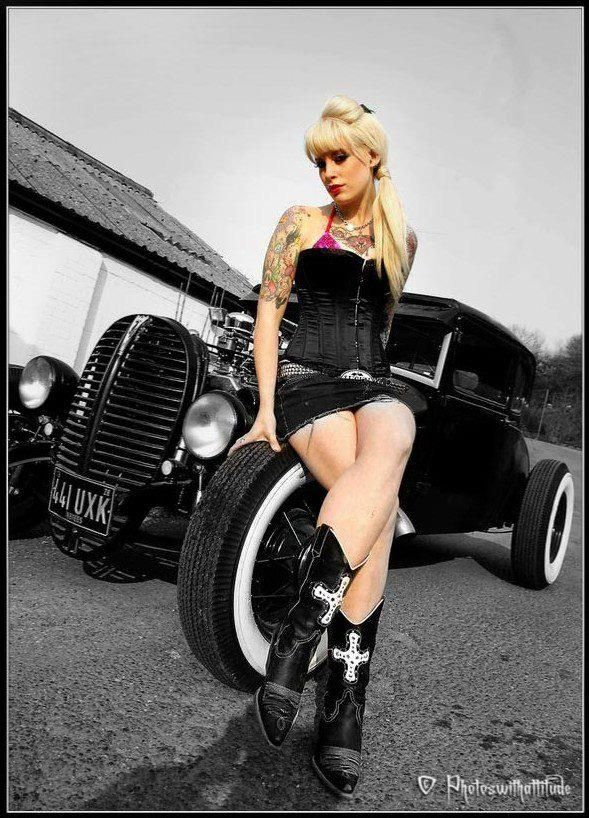 Hot rod pin up girl pictures