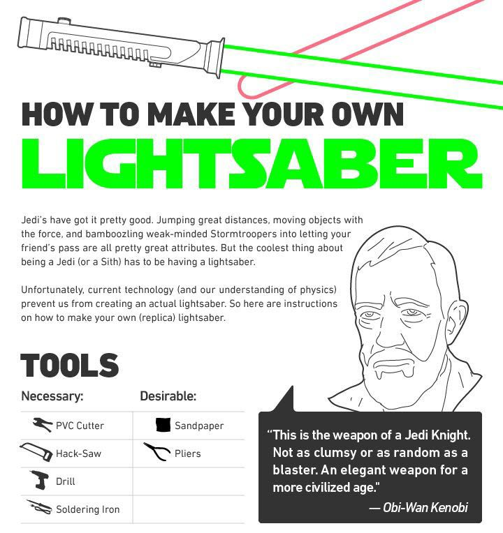 Jedi's build their own lightsabers. The message there is clear; if you want it - you build it. At this time of year when expectations can rise that feels like a very timely message.