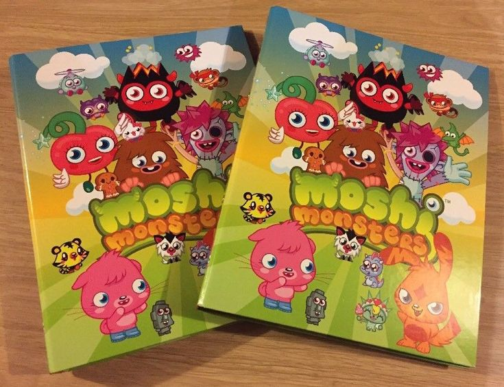 New WH Smiths Moshi Monsters A4 Ring Binder Set Of 2