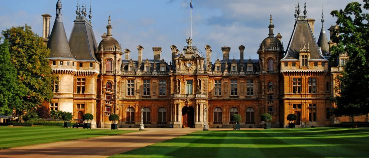 Waddesdon-Manor-England - Waddesdon Manor, one of the most extraordinary houses in England. Over 125 years ago, Baron Ferdinand Rothschild transformed a barren hill in the countryside outside London into the setting for this breathtaking estate, where he entertained family and friends, politicians and artists, royalty and writers.