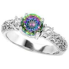 i seriously kinda want a rainbow wedding ring - Rainbow Wedding Rings