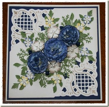 Dragonfly Cards and Creations: Carnations in Navy