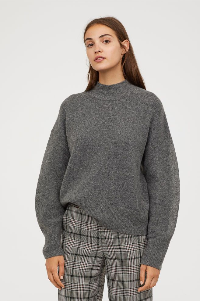 ca03a0bc4fb H&M Fine-knit Sweater - Gray | Tops | Sweaters, Grey sweater ...