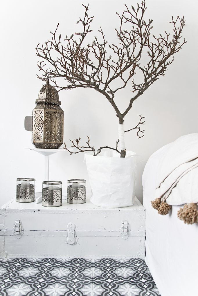Maroc / Un intérieur au total look blanc /
