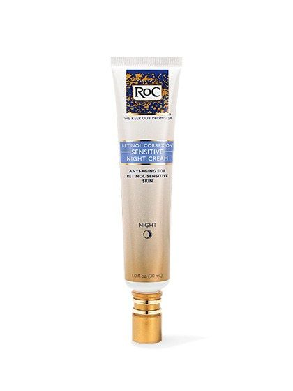 """RoC Retinol Correxion Sensitive Night Cream """"Retinol can be irritating because it penetrates the skin rapidly,"""" says Graf. But this time-released formula is gentle enough for sensitive skin—and just as effective as other retinol creams, without all the redness and irritation."""