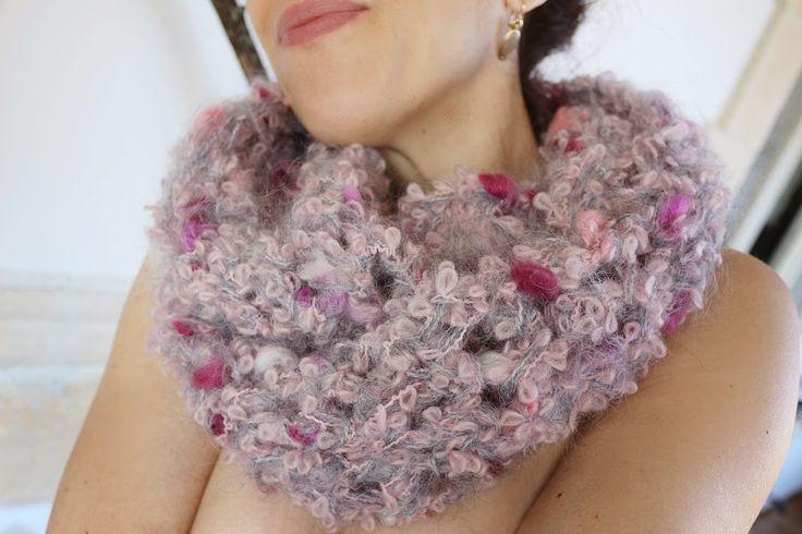 uncinetto moda e fantasia: sciarpa circolare