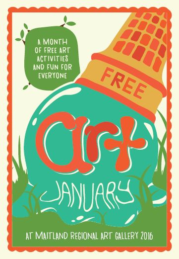 Free Art January, is a month of free art activities and fun for everyone at Maitland Regional Art Gallery.