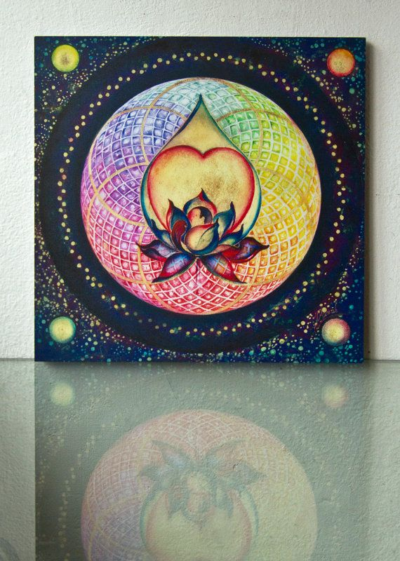 """The Drop of Golden Rain"" - Mandala of Wealth & Wellnessmandala lotus flower heart fortune wellness richness luck"