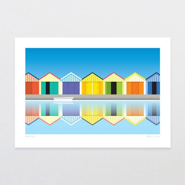 Harbour Master - work from a set of colorful prints.