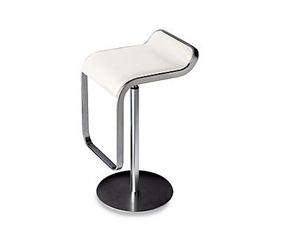 Unique Lem Piston Stool with Leather Seat