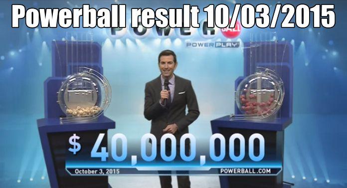 Powerball resultados sabado 3/10/15. Ver: http://wwwelcafedeoscar.blogspot.com/2015/10/powerball-resultados-sabado-31015.html