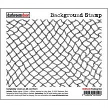 Darkroom Door Fishing Net Rubber Background Stamp with cling foam - DDBS048