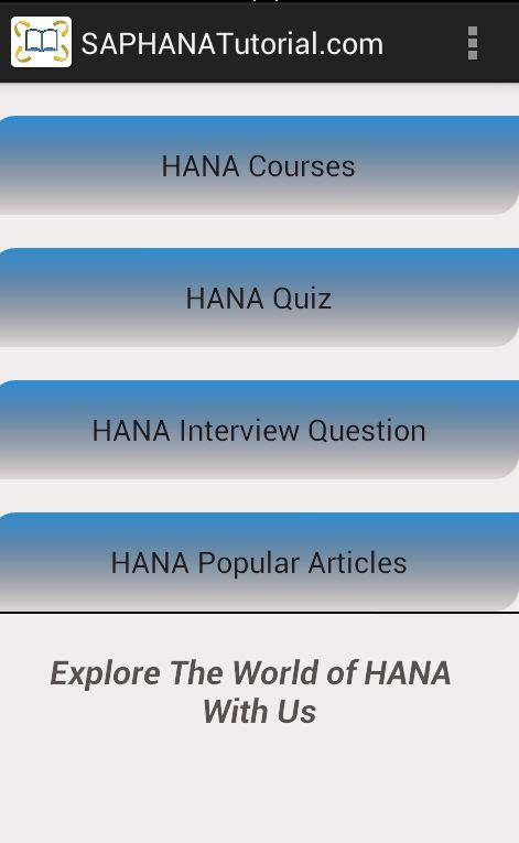 Offline SAP HANA Tutorial : Access most of it offline