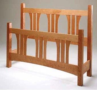 Oak craftsman bed
