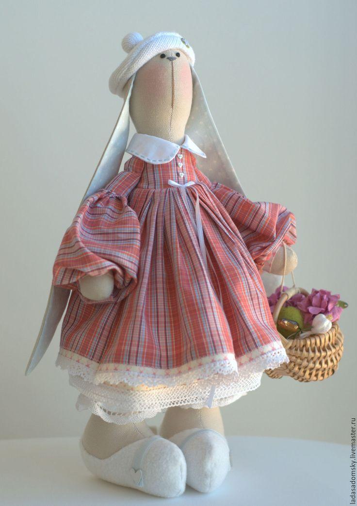 Купить Зайка Fa - текстильная игрушка ( 38 cм ) - комбинированный, зайчик
