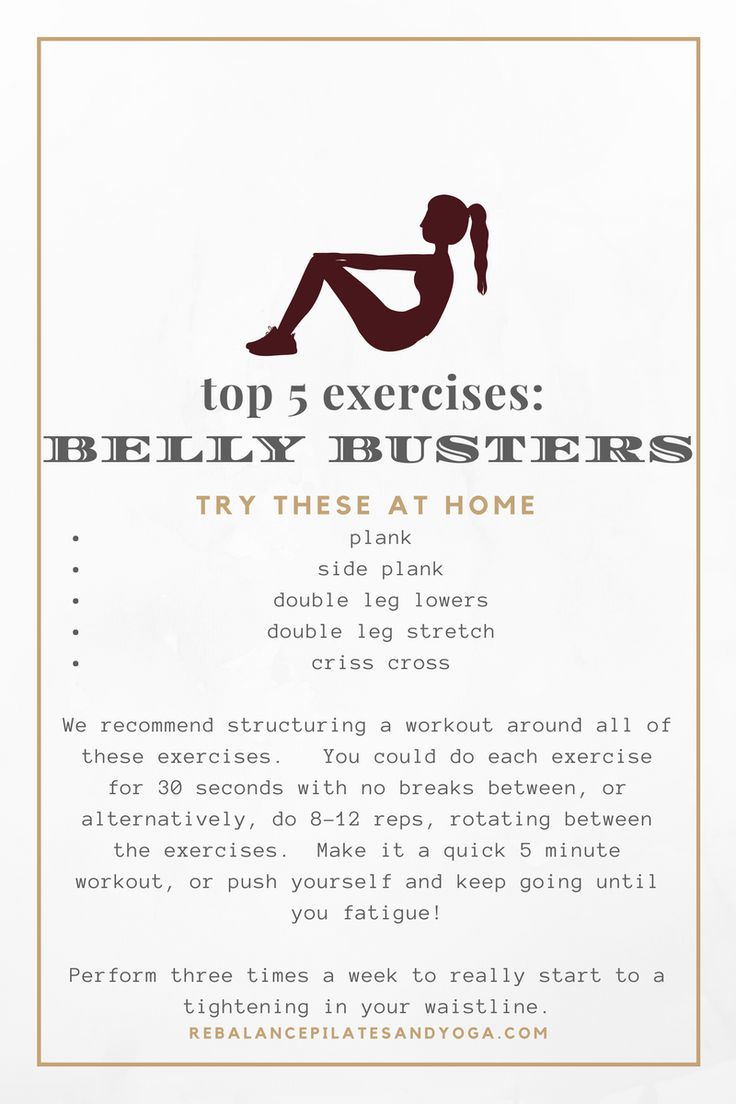 top 5 belly and ab exercises - Rebalance Pilates and Yoga Blog
