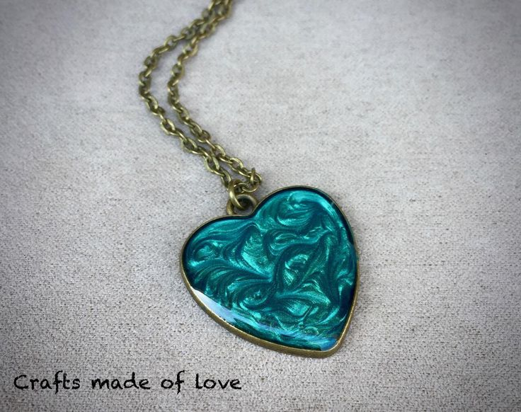 Turquoise heart shaped pendant by CraftsMadeOfLoveShop on Etsy https://www.etsy.com/nz/listing/515324061/turquoise-heart-shaped-pendant