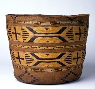 Not the type of Indian basket I collect, but this one has great design and color.