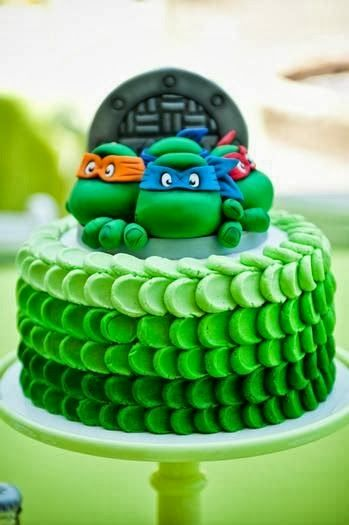 Teenage Mutant Ninja Turtle Cake-model for cake for Eli's 7th