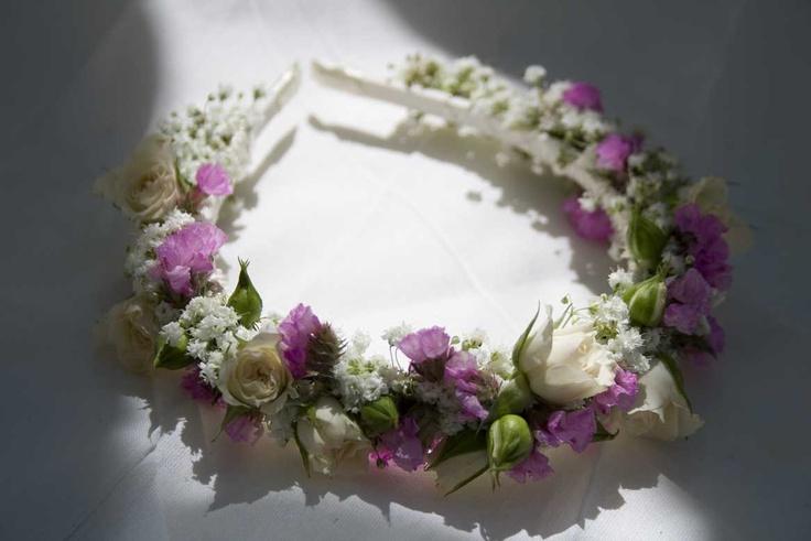 Diadema para ni a con color coronitas de flores - Coronitas de flores ...
