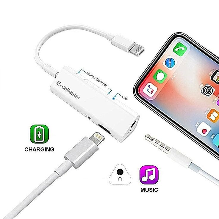 Dual Lightning Jack Adaptor And Charging Iphone X Earphone Splitter Cable White #DealsToday
