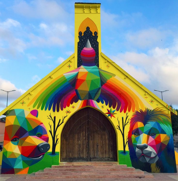 Abandoned Church Transformed With Colorful Graffiti In Morocco | Bored Panda