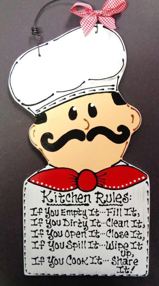 FAT CHEF Kitchen Rules Sign Plaque Bistro Cucina Wall Italian Decor Wood Craft #DesignedHandcraftedbyMillerFamilyWoodcrafts #Traditional