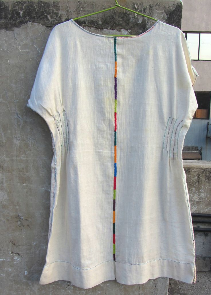 #HandStitched and #HandEmbroidered #tunic made of 100% #Cotton #Khadi fabric #gujarat #embroidery