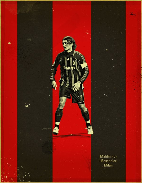 Famous Footballers by Jon Rogers, via Behance