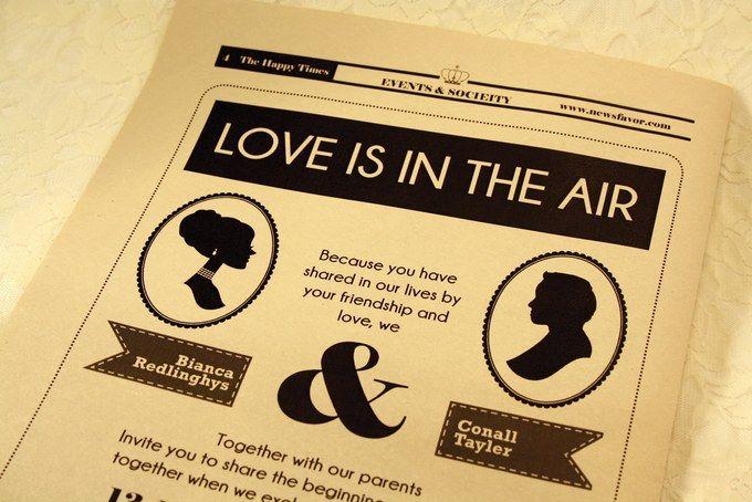Newspaper Wedding Invitations: Best 25+ Wedding Newspaper Ideas On Pinterest