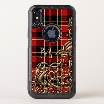 Custom Traditional Scottish Tartan Plaid Pattern OtterBox Commuter iPhone X Case - floral gifts flower flowers gift ideas