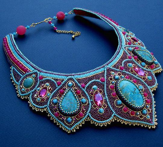 Beautiful jewelry with blue Sediment Jasper   Beads Magic