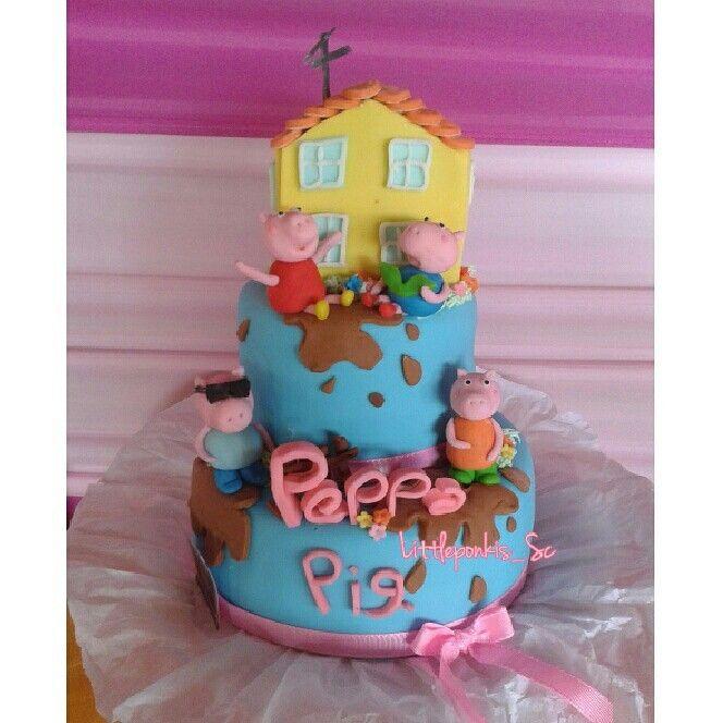 Peppa pig cake girl