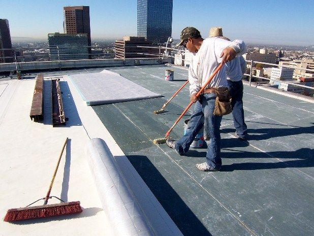 #Flatroofrepair In Toronto Area Your needs can be served through our skills and experience long after the roof has been installed by us or by other roof repair contractors. Click On- http://www.theroofers.ca/commercial/flat-roofing-repair/