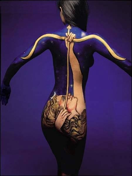 truly artistic body painting