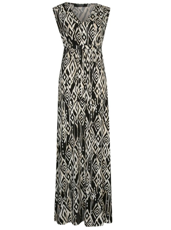 Asda black and gold maxi dress