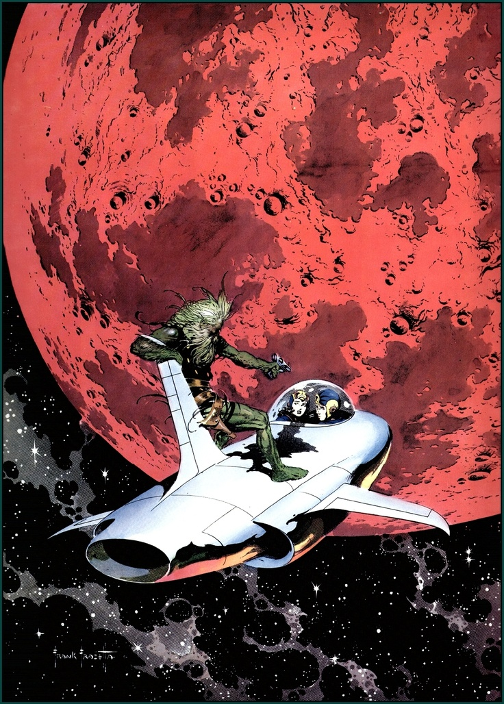 Cover for Famous Funnies #214 (Nov. 1954) by Frank Frazetta