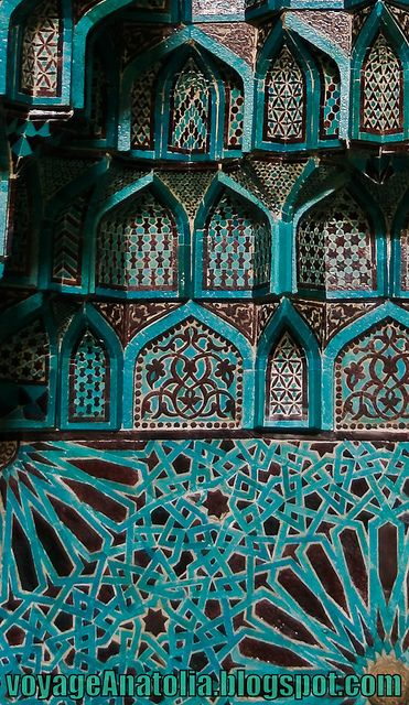 Ceramic Glaze in Seljuq Mosque by voyageAnatolia.tumblr.com, via Flickr