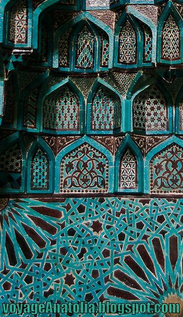 Ceramic Glaze in Seljuq Mosque by voyageAnatolia.tumblr.com, via Flickr