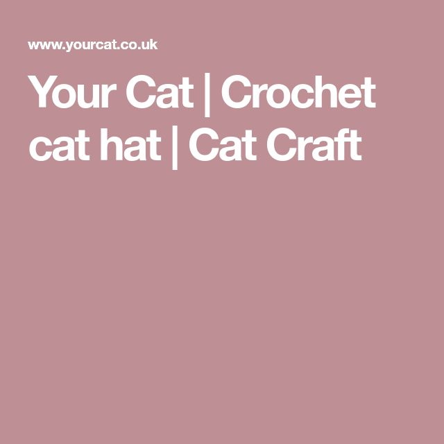Your Cat | Crochet cat hat | Cat Craft
