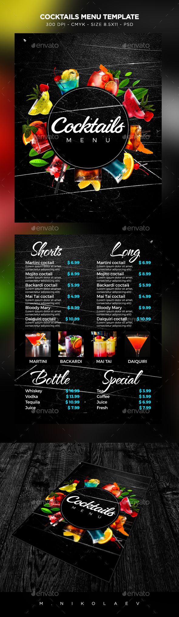Cocktail Drinks Menu 26 best Running a