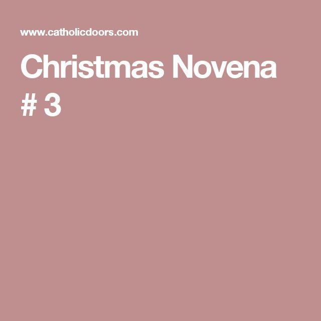 Christmas Novena # 3