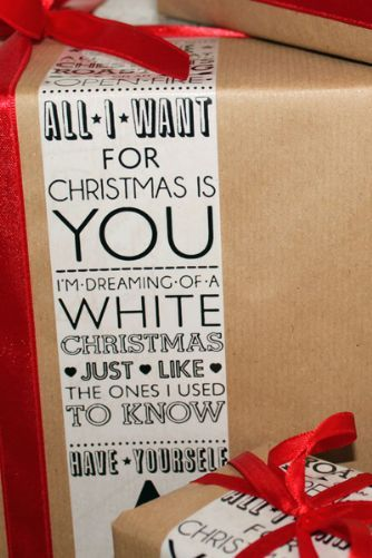 A Merry Christmas Typography Wrapping Tape